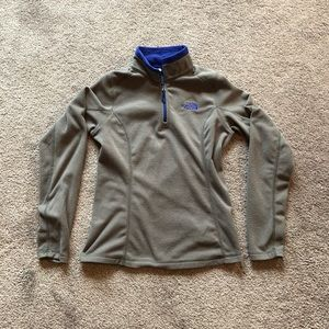 The North Face 3/4 Zip Fleece Pullover Grey/Blue